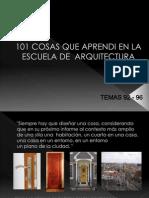 101 Cosas Que Aprendi en Arquitectura Presentacion