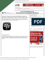 Tutoriel _ Mise à jour de son Blackberry sans le Blackberry Desktop Software