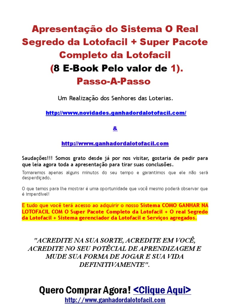 segredo do lotofacil