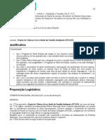 Proposta de Projeto de Lei para Projeto de Clínicas Livres Saúde da Família Inteligente-PSFi_v3