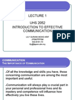 Lecture 1 & 2-Intro to Communication