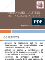 Personajes Ilustres de La Salud Publica