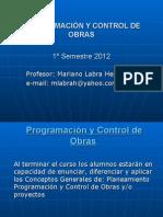 Clase 2 Programacion y Control de Obras