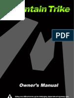Mountain Trike Owners Manual