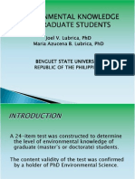 D4 Lubrica Environmental Knowledge of Grad Students