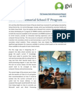 GVI Fiji July 2012 Achievement Report - RMMS IT Program