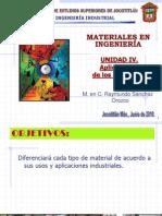 Aplicaciones de Los Materiales UNIDAD IV