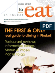 Where to Eat Phuket September - October 2012