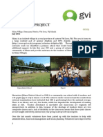 GVI Fiji Achievement Report July - The Silana Project