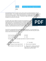 Accounting solution based on Managerial Accounting