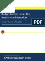 Budget Reform under the Aquino Administration by Budget Secretary Florencio B. Abad
