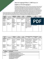 ESL Language B Level 2 Course Outline 2012-2013