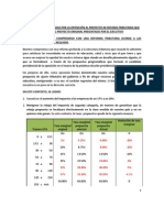 Modificaciones Al Proyecto de Refoma Tributaria Que Mejoran El Proyecto Original Presentado Por El Ejecutivo