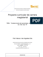 Proyecto Curricular Carrera Magisterial
