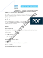 Statistics solution for Small sample test
