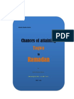 Chances of Attaining Taqwa in Ramadan