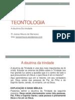AULA-ADOUTRINADATRINDADE-TEOLOGIASISTEMÁTICAI