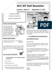 BCC IEP Staff Newsletter Week 17 Sem 1 2012