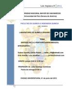 sintesis de 2-pentadecil bencimidazol