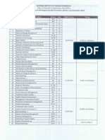 Midterm Date Sheet July Dec