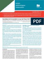 Surveillance de la mortalité au cours de l'hiver 2011-2012 en France