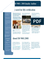 ISO 9001 2008 Quality Auditor Brochure