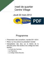 Réunion publique du 22 mars 2012