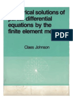 Claes Johnson - Numerical Solutions of Partial Differential Equations by the Finite Element Method - 2009