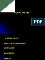 16 Moral Values