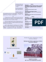 Programa Semana Cultural Japonesa en Cullera