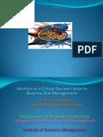 Intuition & BRiskManag