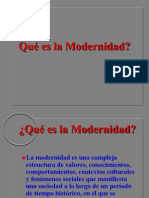 Power Point de LA MODERNIDAD