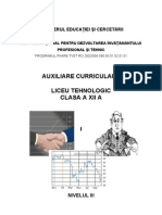 Auxiliar curricular  -  Planificare operationala