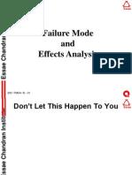 FMEA (Failure Mode Effect Analysis)