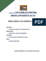 Jesus y El Espiritu Santo Exposicion