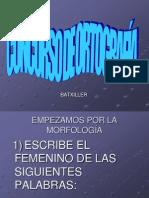 CONCURSO DE ORTOGRAFÍA
