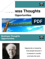 Great Business Thoughts - Opportunities