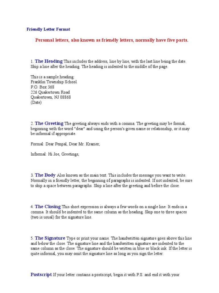 Format For A Personal Letter from imgv2-1-f.scribdassets.com