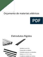 Materiais utilizados em instalações elétricas