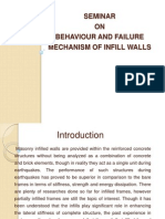 Behaviour and failure mechanism of infill walls