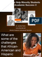 Strategies to Help Minority Students Achieve Academic Success