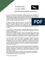El oficio del corrector ortográfico y de estilo, por E. Lobato Correcciones de textos