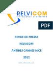 Relvicom Antibes Cannes, revue de presse, Aout2012