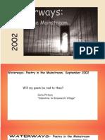 Waterways Poetry in the Mainstream vol 23 no 8