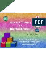 6th Basic IVT Training for Nurses