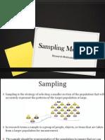 Sampling Methods Final
