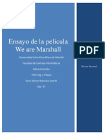 We are Marshall - Ensayo - 4toA