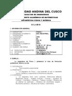 Silabo de Fisica i (Ing. Ind) 2012 - i