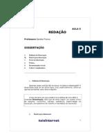 Curso de redação. texto sobre dissertação
