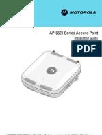 Motorola Solutions AP6521 Access Point Installation Guide (Part No. 72E-155456-01 Rev. a) 15545601a